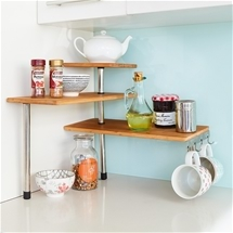 Space-Saving Corner Shelf