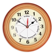 Weekday Wall Clock