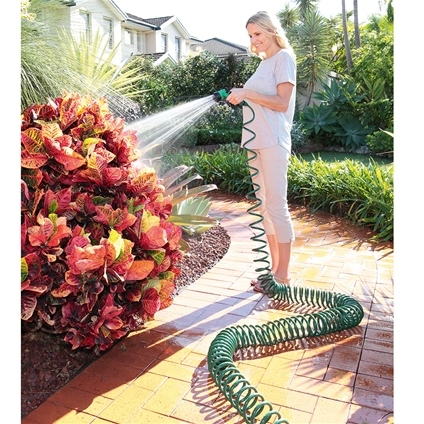 Coiled Hose with Spray Wand